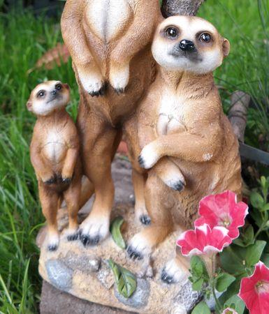 Erdmännchen Familie mit Solarlaterne Figur Gartenfigur 51 cm Garten Erdmännchenfamilie – Bild 4