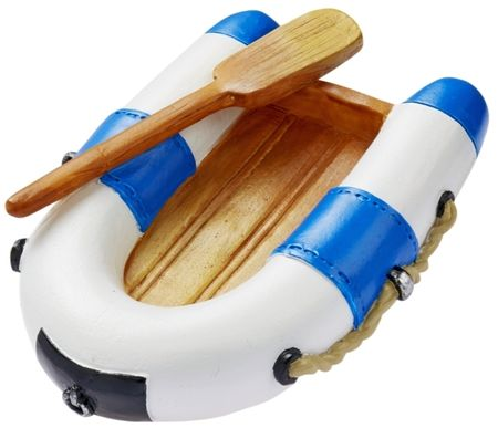 Miniatur Schlauchboot 7 cm blau weiß Figur Deko Urlaub Meer Schiff Strand Ferien Boot