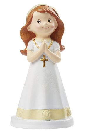 Kommunion Figur Mädchen 9 cm Kirche Feier Miniatur