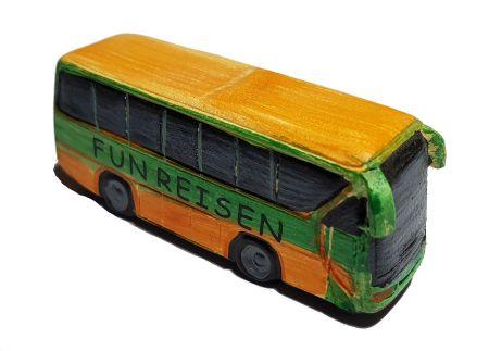 Miniatur Reise Bus 7,4 cm Figur Deko Urlaub Bus Reisebus