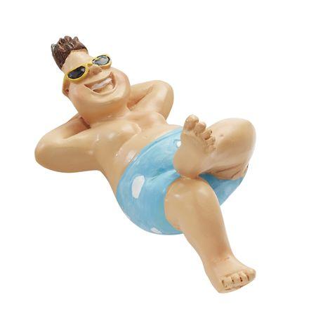Bade Urlauber für Liegestuhl 6 cm Figur Deko Urlaub baden
