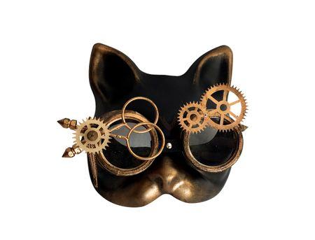 Steampunkmaske Cat Katze Maske Karneval Kostüm Retro Pest
