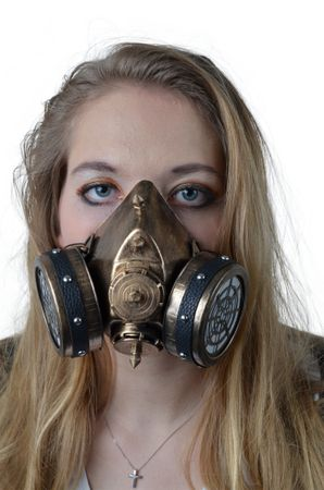 Steampunkmaske mit Gummiband Maske Karneval Kostüm Retro Pest