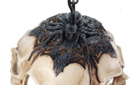 Prachtvolle Totenkopf Deckenlampe Totenschädel Schädel Lampe  – Bild 3