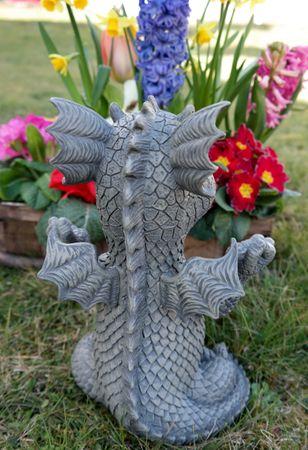 Süsser Gartendrache Ommm Drache Figur Gartenfigur 26 cm – Bild 4