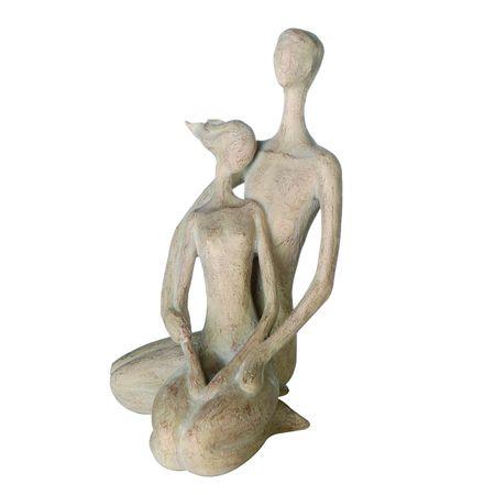 Casablanca Skulptur Paar hellbraun Holzoptik 31 cm Liebe
