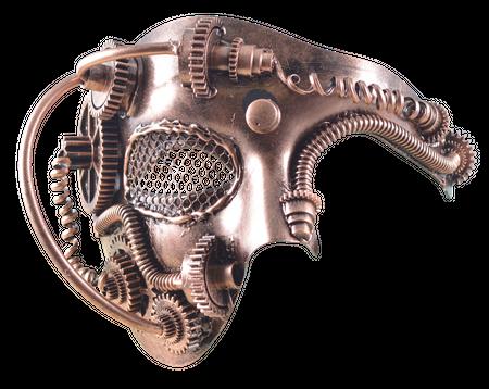 Steampunkmaske mit Augengitter Maske Karneval Kostüm Retro Pest