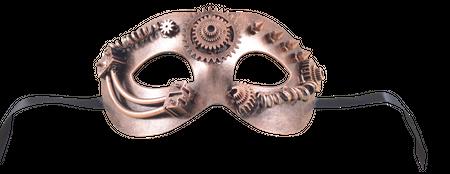 Steampunkmaske mit Zahnrad Maske Karneval Kostüm Retro Pest