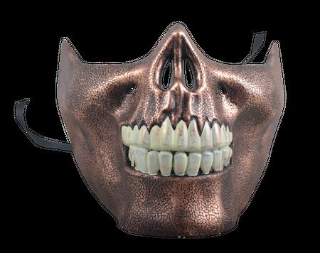 Steampunkmaske für untere Gesichtshälfte Maske Karneval Kostüm Retro Pest