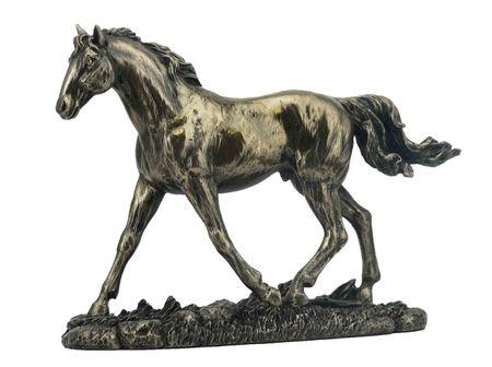 Veronese Figur Pferd auf Wiese bronziert Skulptur Pferde