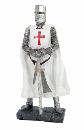 Kreuzlritter mit Schwert Figur Templer Ritter Templerkreuz Deko Skulptur