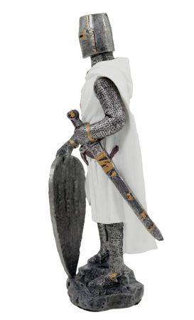 Kreuzritter in Rüstung Ritter Templer Kreuz Deko Skulptur – Bild 2