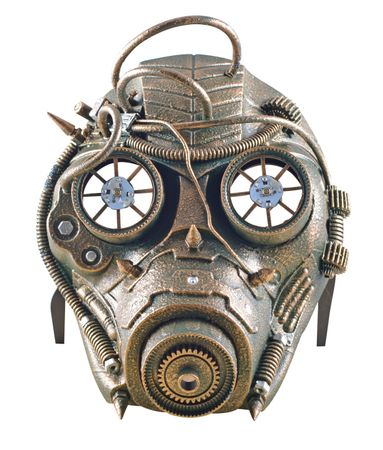Steampunkmaske LED Maske Karneval Kostüm Retro Pest Steam Punk