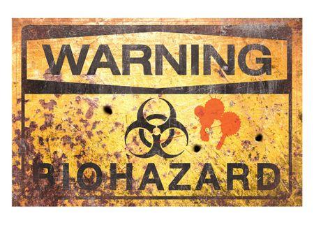 Metallschild Warning Bio Hazard Türschild 43 x 28 cm