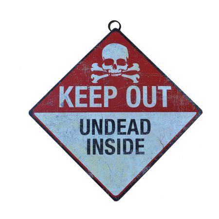 Metallschild Keep Out- Undead Inside Türschild 43 x 28 cm Betreten Verboten