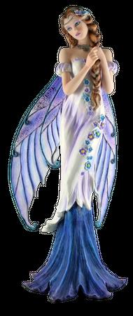 Anmutige edle Fee mit flechtet ihre Zöpfe Figur Skulptur Engel Feen Fairy – Bild 1