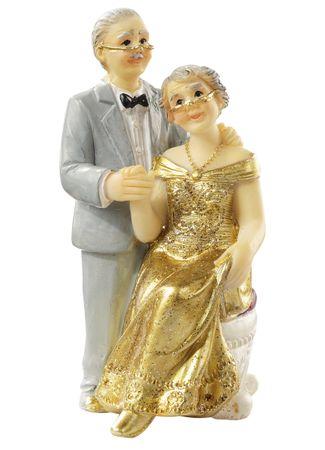 Goldpaar I ca. 7,5 cm Figur Deko Goldhochzeit Hochzeitspaar
