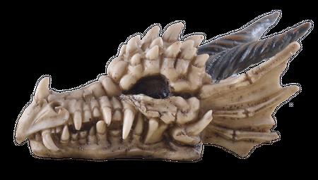 Kleiner Drachenschädel Skelet Totenschädel Schädel Figur Drache