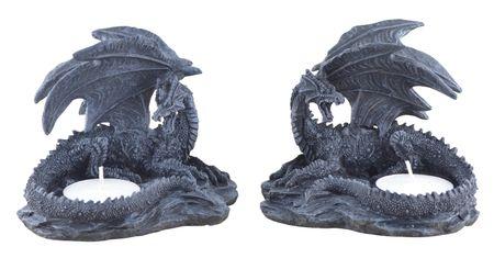 Vogler 816-997 2er Set Teelichthalter Drache Teelicht Dragon 10cm Figur figurine