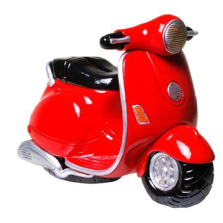 Udo Schmidt 89167 Spardose Motorroller Motorrad 10 cm Deko Figur Roller Moped Biker