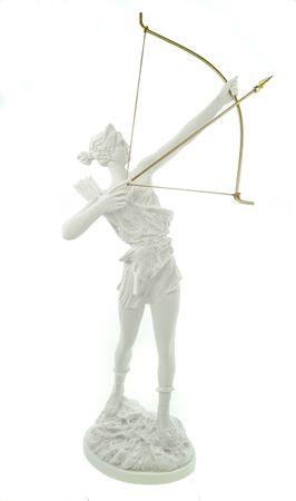 Alabaster Artemis griechiche Göttin der Jagd Figur Skulptur 41 cm weiß Gottheit