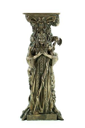 Teelichthalter Göttin 25 cm bronziert Skulptur Statue Figur kerze halter