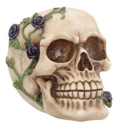 Purple Rose kleiner Totenschädel 15 cm Totenkopf Schädel Figur