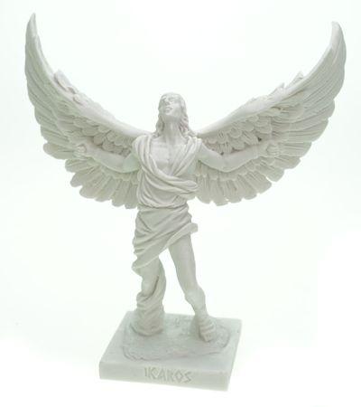 Alabaster Figur Ikarus Skulptur 16 cm weiß Kreta