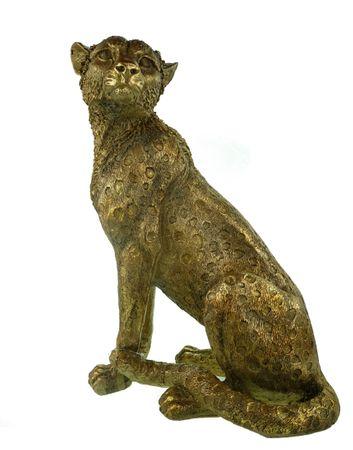 Glamouröse Leopard Skulptur 50 cm Afrika Deko Figur Raubkatze Deko Dekoration Tiger