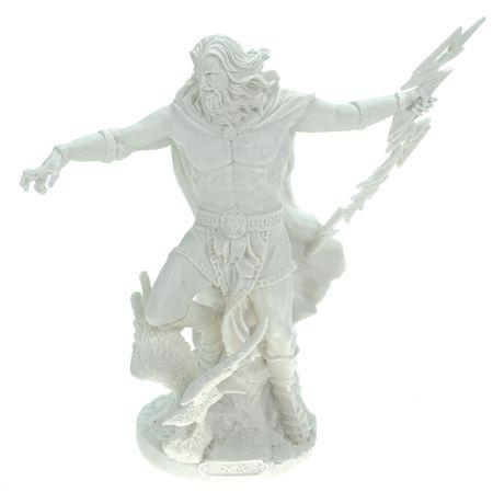 Alabaster Deko Figur Zeus Göttervater 25 cm Skulptur weiß