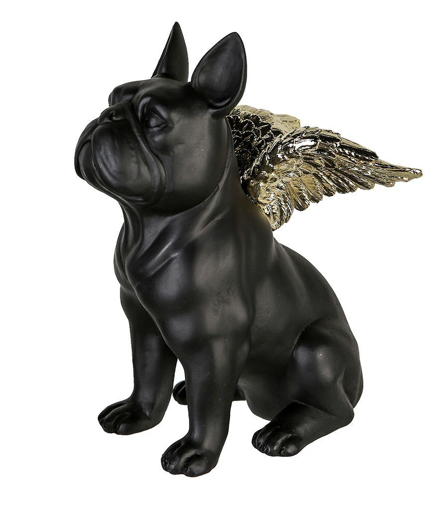 Casablanca Figur Flying Bulli Schwarz Goldfarben 16 Cm Figur Hund Skulptur Tolle Deko Und Geschenkideen Figuren Accessiors Mit Dem Glucksfaktor