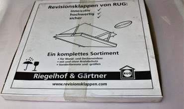 RUG Revisionstür / Revisionsklappe AluNova mit 500 X 500 X 12,5mm Gipskartoneinlage (Feuchtraum) – Bild 5