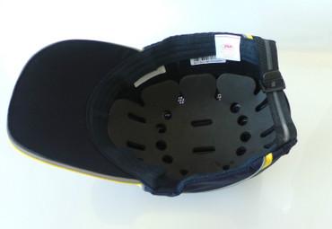 Anstoßkappe, Hardcap A1+, JSP 7cm Schirm navy/gelb Sicherheits-Anstoßkappen – Bild 6