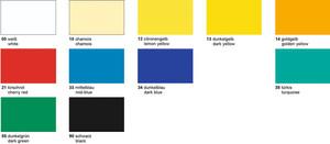 URSUS Glanzkarton 250g/qm 50x70cm 10 Bogen - Normalfarbe