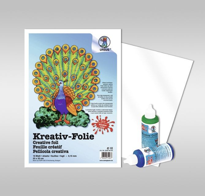URSUS Window Color Folie selbsthaftend 23x33cm 10 Blatt