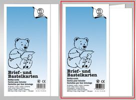URSUS Briefkarten weiß DIN lang hochdoppelt 100 Stück