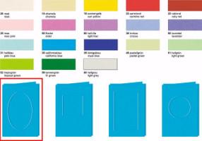 URSUS Passepartoutkarten oval A6 10 Stück