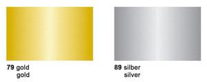 URSUS Fotokarton 25 Bogen 50x70cm 300g - gold/silber