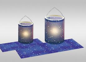 URSUS Laternenzuschnitte Sternenhimmel 20x50cm 25 Blatt
