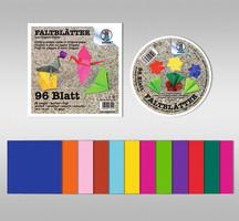 URSUS Origami-Faltblätter 13x13cm 96 Stück in 12 Farben