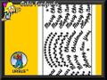 URSUS Kreativ Sticker  Merry Christmas  1 Blatt 10x23cm - silber