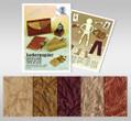URSUS Lederpapier 23x33cm 5 Blatt 5 Farben sortiert