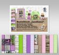 URSUS Bastelblock Landhaus 300g/qm 24x34cm 16 Blatt Motive und Farben  sortiert