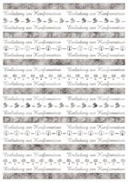 URSUS Transparentpapier  Bordüren  silber 115g DIN A4 5 Blatt - KONFIRMATION