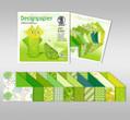 "URSUS Designpapier Faltblätter ""Jade"", 10x10 cm, 50 Blatt sortiert"