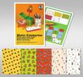 URSUS Bastelmappe Motiv-Fotokarton 10 Blatt 23x33cm sortiert Sortiment 1