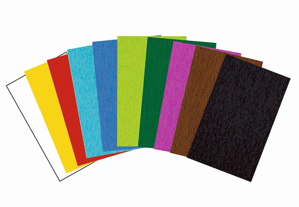 URSUS Tonpapier 130g/qm DIN A4 100 Blatt 10 Farben sortiert
