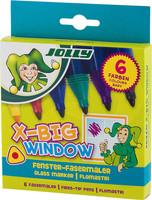 JOLLY X-BIG Window Fenstermaler 6er-Kartonetui