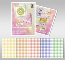 URSUS Karo-Fotokarton 300g 23x33cm 10 Blatt sortiert