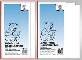 URSUS Briefkarten 190g weiß DIN lang einfach 25 Stück